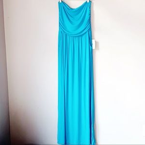 Misia tube top maxi dress strapless ruched pockets